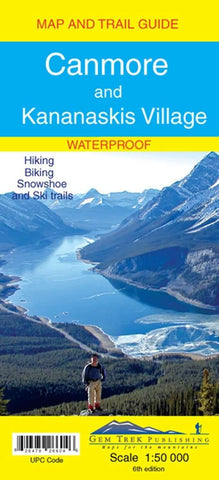 Canmore/Kananaskis Village Waterproof Map - Alpine Book Peddlers - Chateau Mountain Sports
