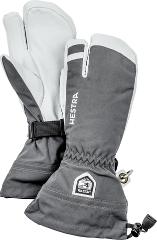 Army Leather Heli Ski 3 Finger Glove Men's - Hestra - Chateau Mountain Sports