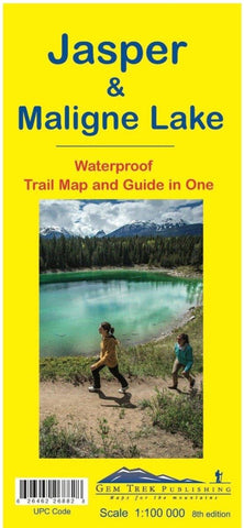 Jasper/Maligne Lake Waterproof Map - Alpine Book Peddlers - Chateau Mountain Sports