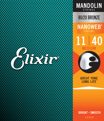 Elixir 11525 Nanoweb Mandolin Medium 11-40