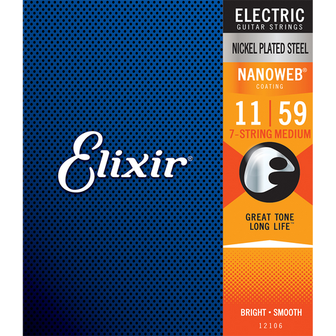 Elixir 12106 Nanoweb Electric 7 String Medium 11-59