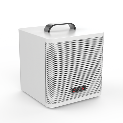 Aroma AG40A 40W Rechargeable Acoustic Guitar Amplifier White