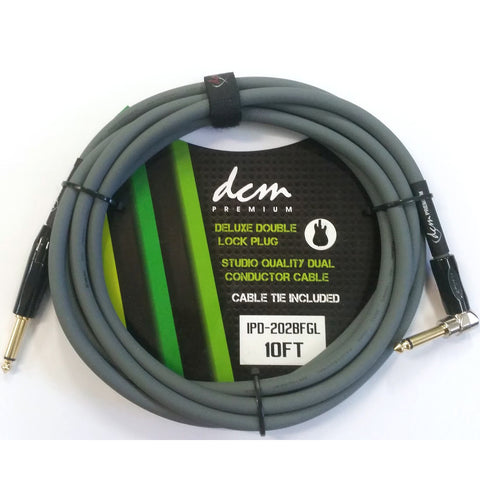 DCM 20FT Premium Right Angle to Straight Guitar Cable
