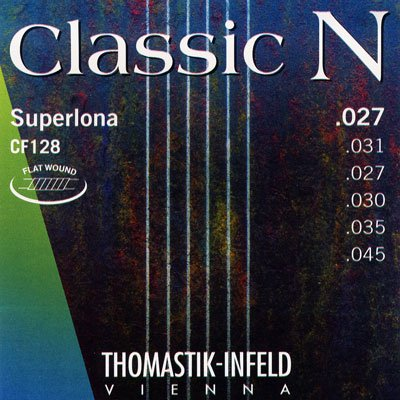 Thomastik CF128 Classic N Nylon Flat Wound Superlona chrome G