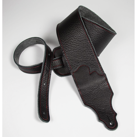 "Franklin Original  3"" Black Glove Leather with Red Stitching"