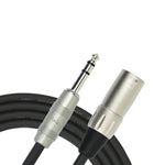 Kirlin KMP483PR-10  10FT Male XLR - 6.5 Stereo Jack Cable
