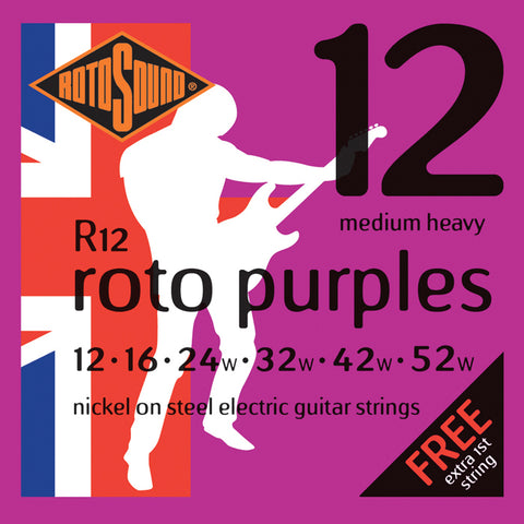 Rotosound R12 Roto Purples  Electric String Set 12-52