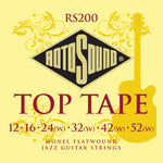 Rotosound RS200 Top Tape Monel Flatwound Jazz 12-52