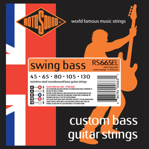 Rotosound RS665EL Swing Bass 66 Extra Long 45-130 5-String