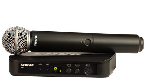 Shure BLX24/SM58 Handheld Wireless System - SM58 Handheld in the M17 Frequency Band (662-686MHz)