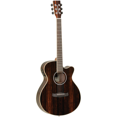 Tanglewood TDBTSFCEAEB Discovery Exotic Superfolk C/E All Ebony