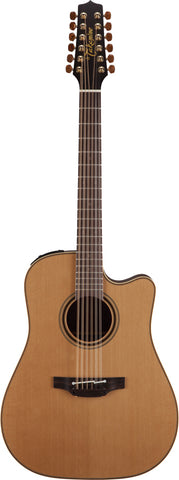 Takamine Pro Series 3 Dreadnought 12 String AC/EL Guitar with Cutaway in Natural Satin Finish