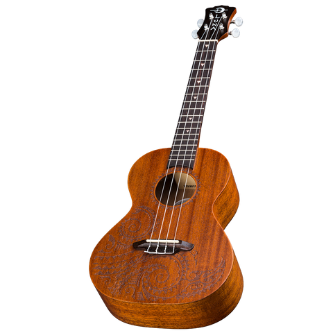 Luna UKETTNMAH Ukulele Tattoo Tenor w/Gig Bag