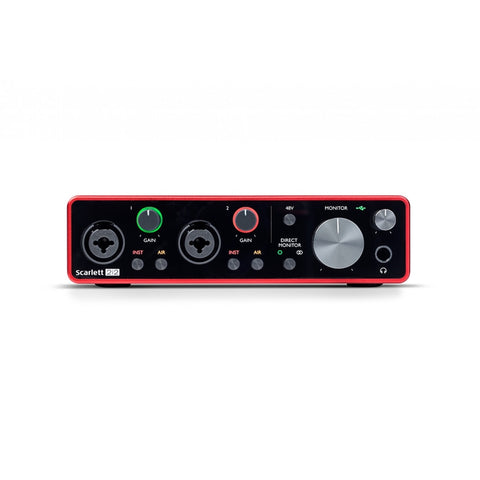 Focusrite Scarlet 2i2 Gen 3 USB C 2x2 Audio Interface