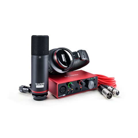 Focusrite Scarlett Solo Studio Gen 3 USB C 2x2 Audio Interface Pack
