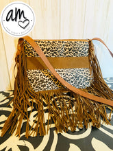Load image into Gallery viewer, Leopard Fringe Purse