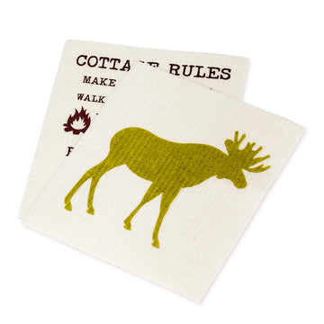 Moose & Rules Dish Cloths. Set of 2
