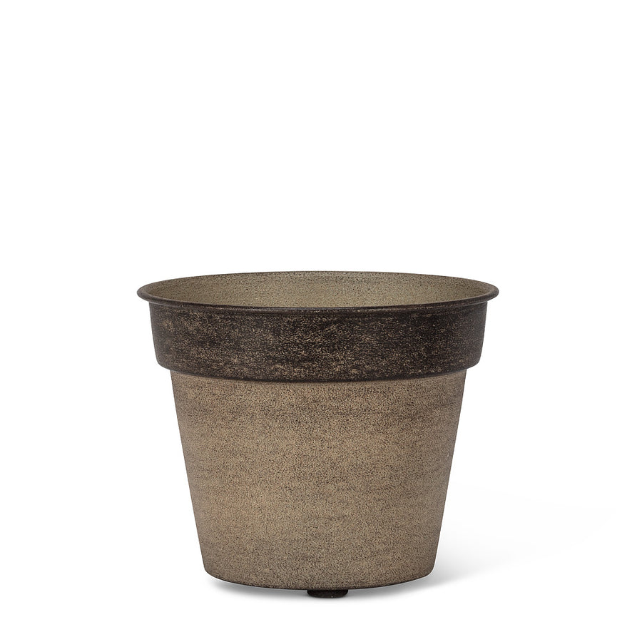 Two Tone Tapered metallic planters