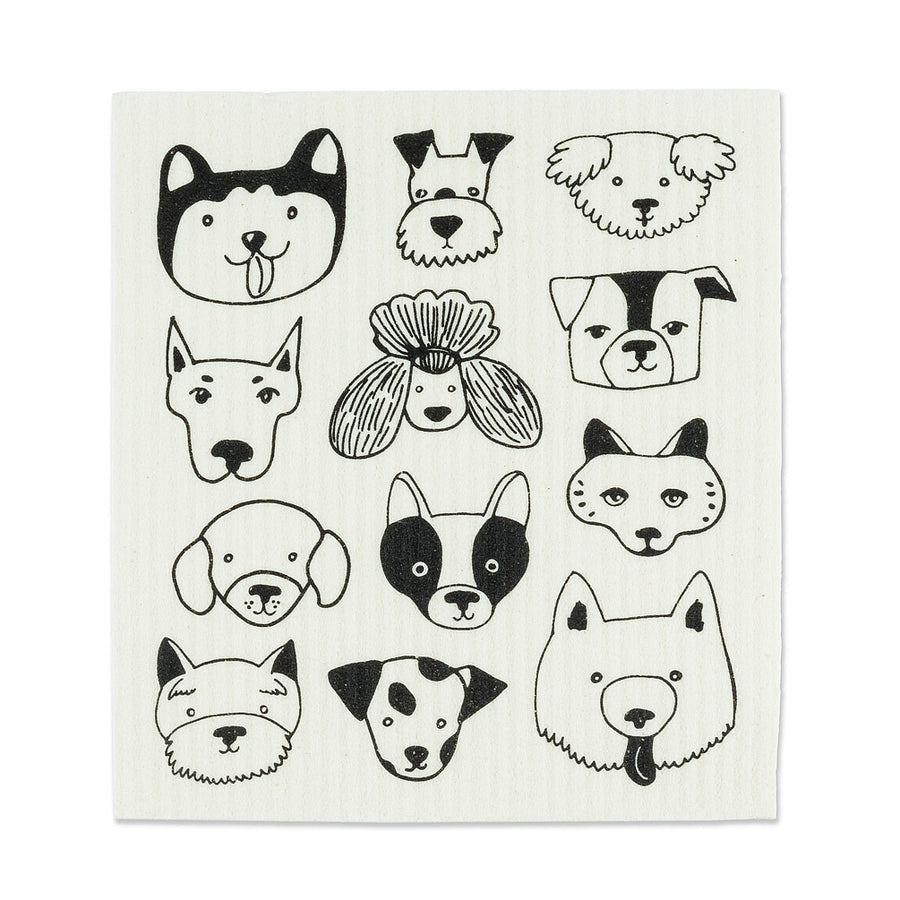 Simple Dog Faces Dishcloths. Set of 2