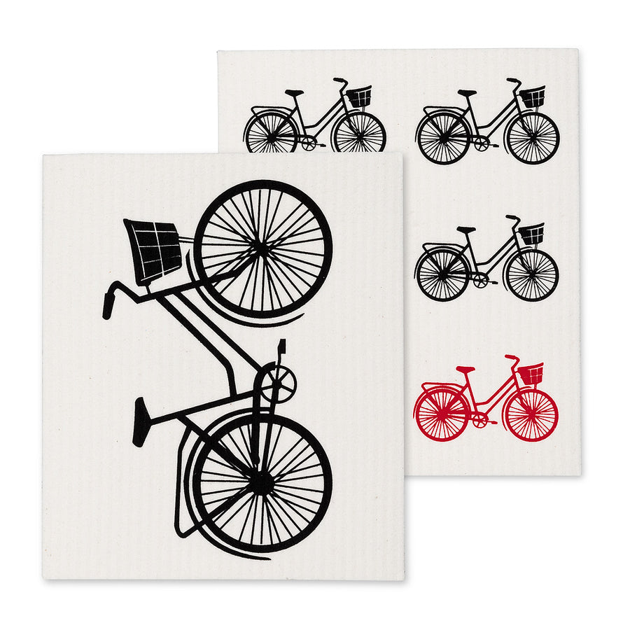 Bicycle Dishcloths. Set of 2