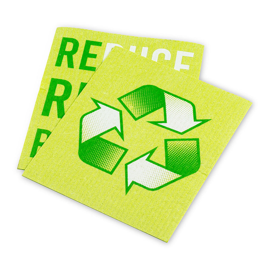 Reduce Reuse Recycle Dishcloths. Set of 2