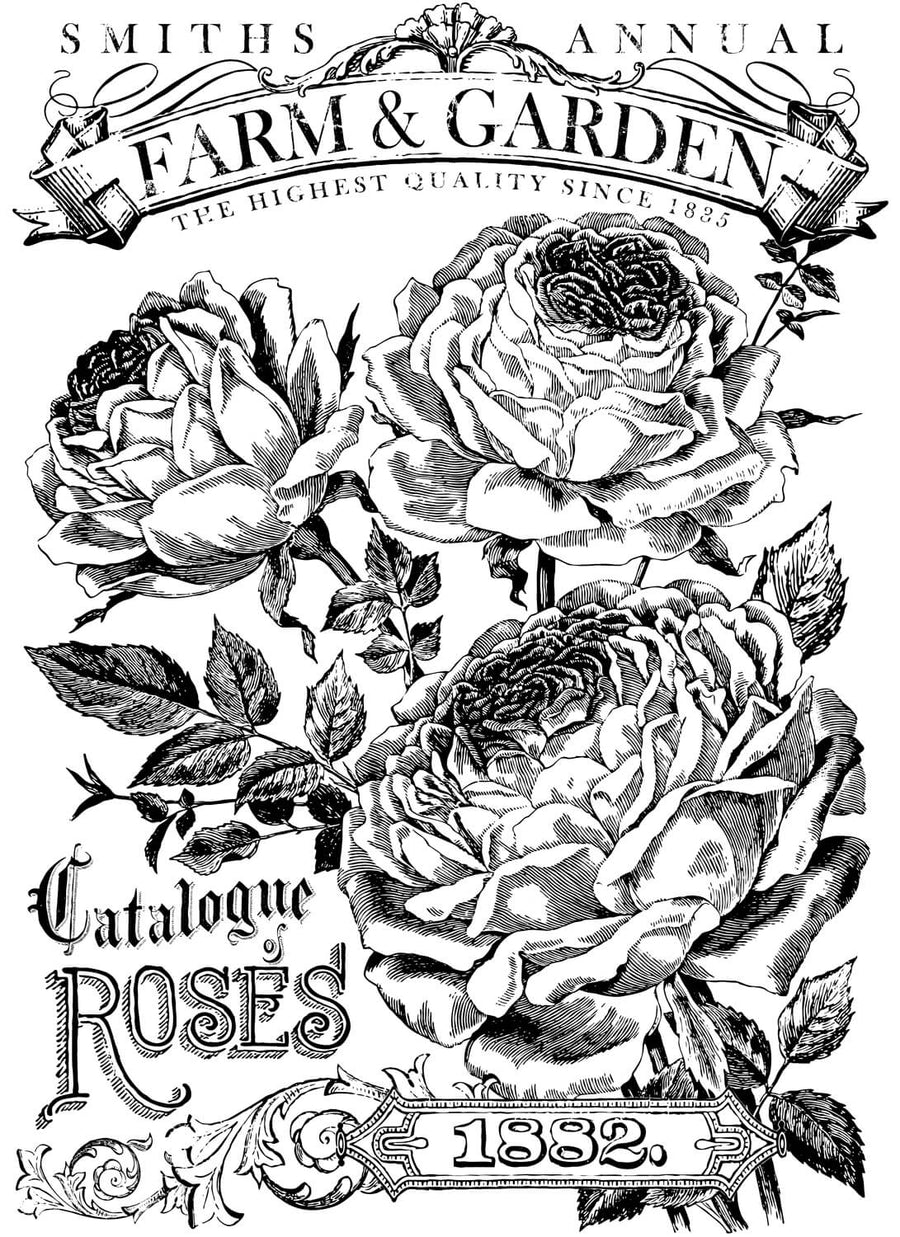 Catalogue of Roses Paintable Decor Transfer™