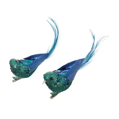 Chinoiserie bird clips 5''(set of 2)