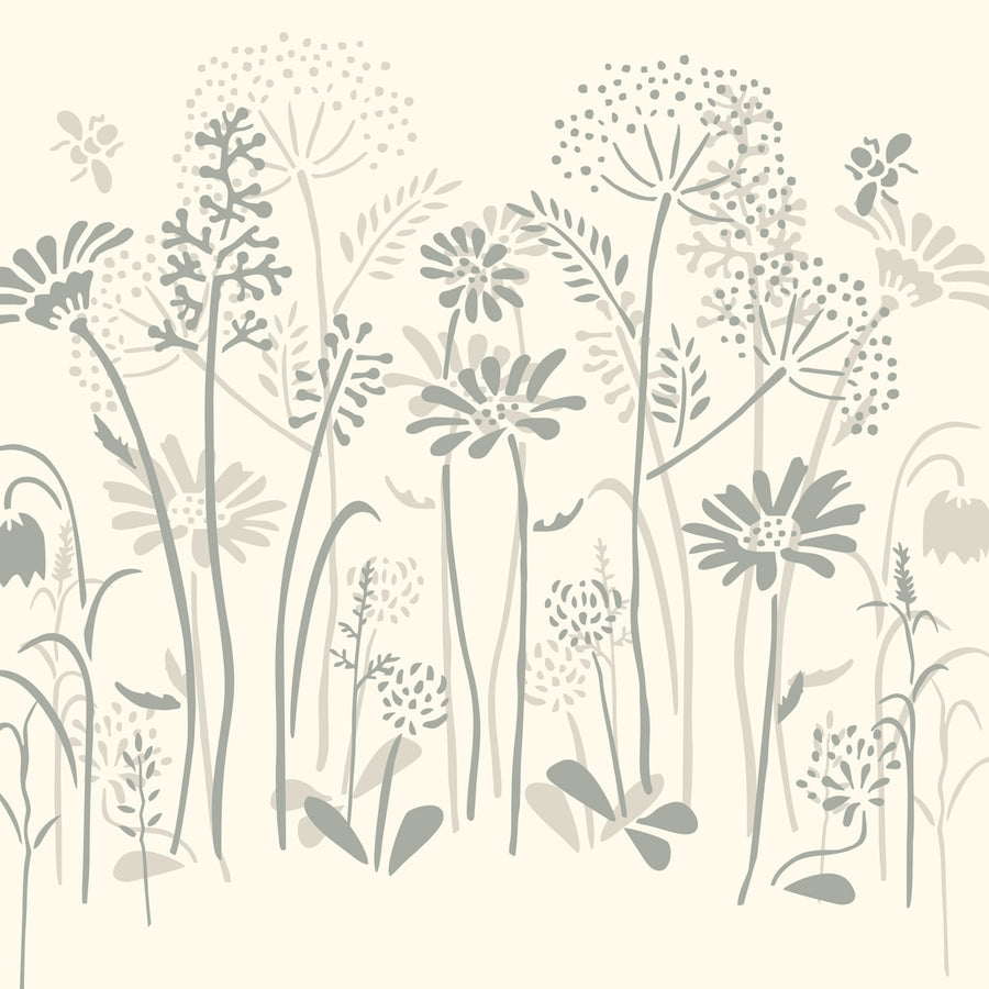 This is a thoroughly versatile design in the grand tradition of botanical and floral stencils. It can be adapted to suit traditional, modern or retro Interiors depending on whether you use neutrals, brights, or strong pastel colours to render the design. Follow from walls to furniture to create a witty wildflower border.