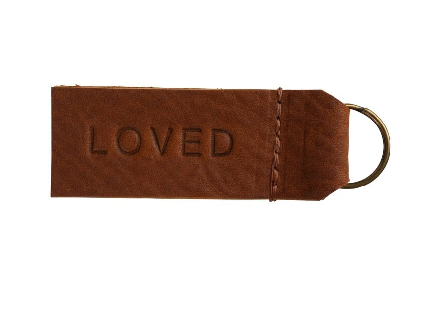 Leather Loved Key Chain