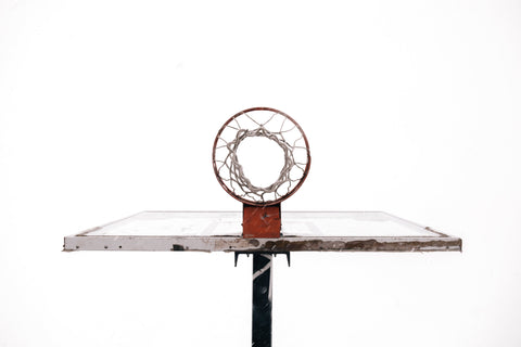 basketball hoop from bottom