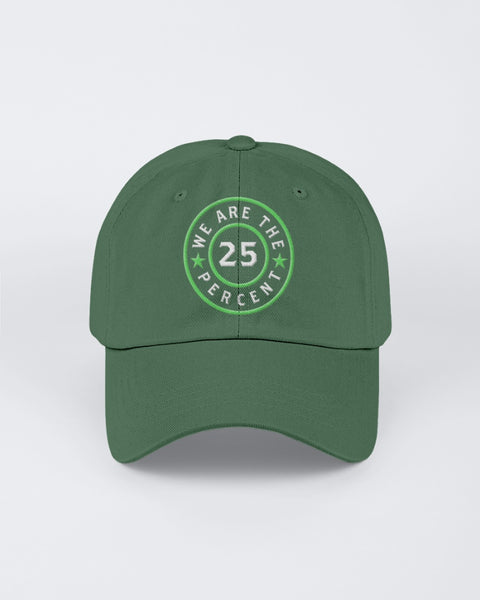 We Are The 25 Percent - Mental Health Awareness (Twill Unstructured Cap)