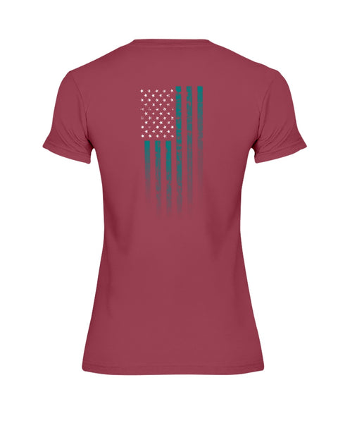 We, The Rugged Patriots - PTSD Awareness (Ladies Missy T-Shirt)