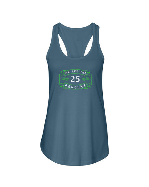 We Are The 25 Percent - Mental Health Awareness (Bella Flowy Racerback Tank)