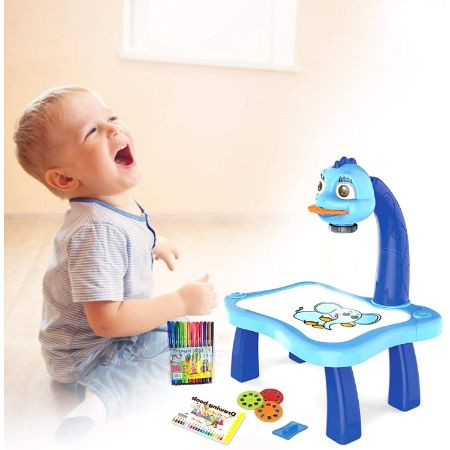 LED Projector Kids Educational Drawing Board - Wowtsup