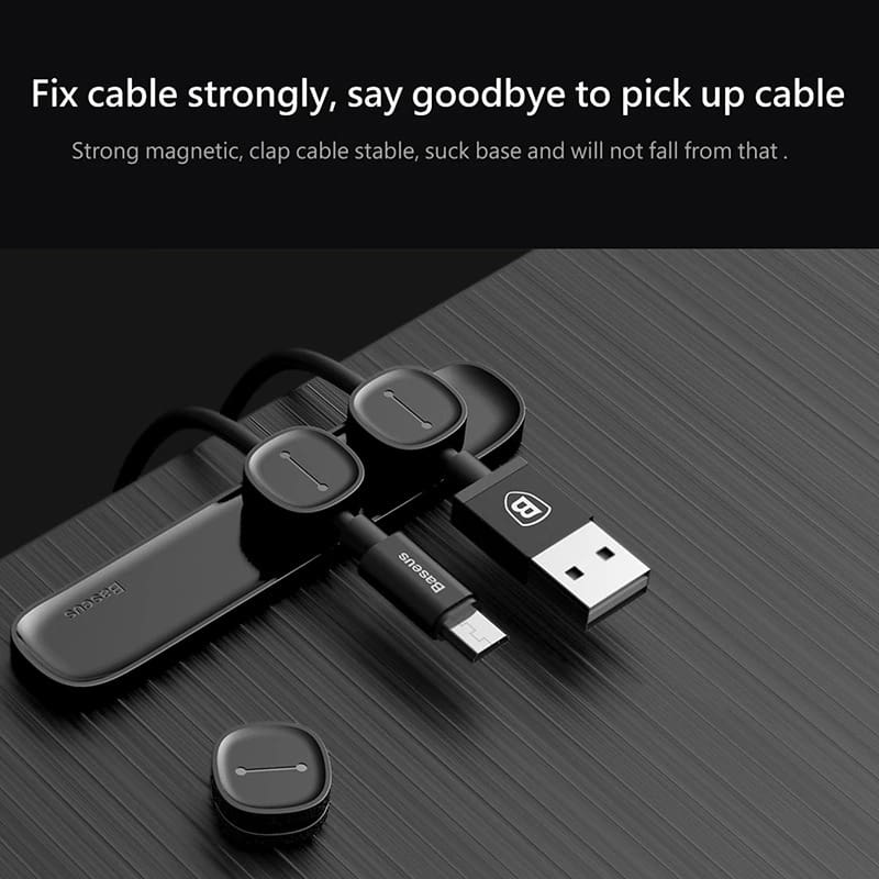 Magnetic USB Charger Cable Holder