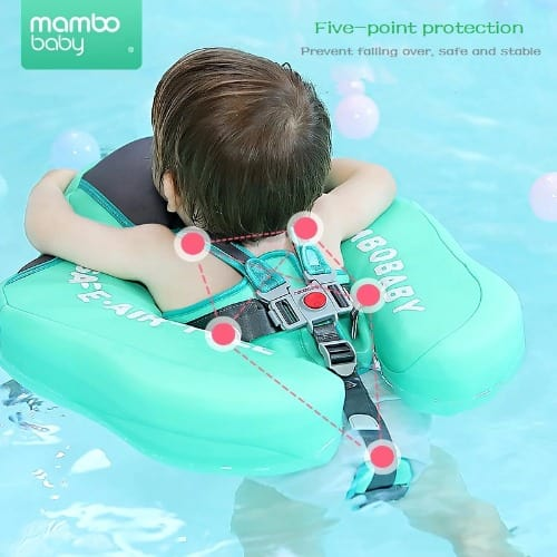 Baby swim ring float with canopy
