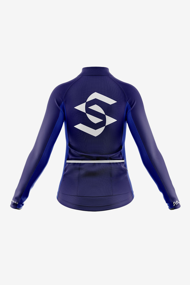 Pro Long Sleeve Jersey Navy Back (Women)