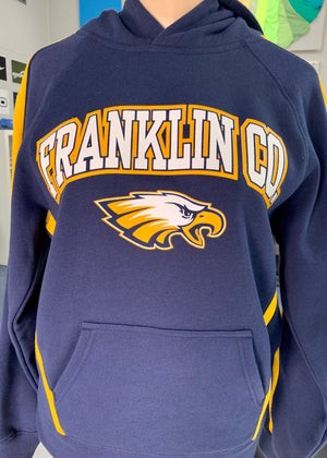 Franklin Co. Flyer Navy and Gold Hoodie