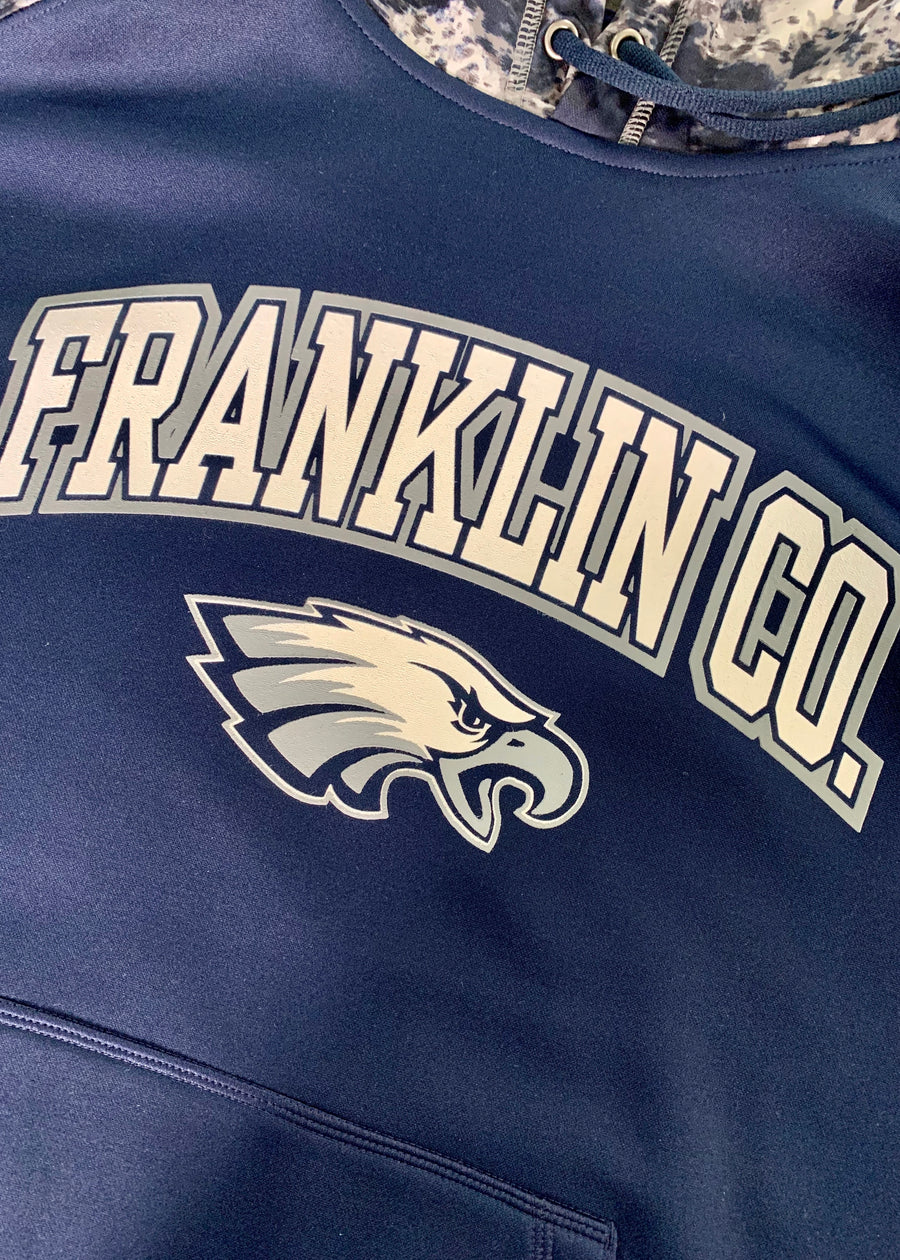 Franklin Co. Flyer Navy and Grey Hoodie