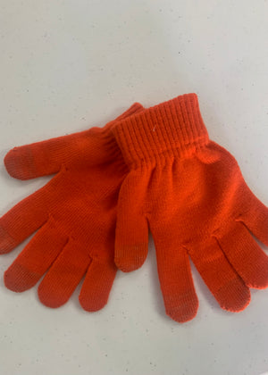 Orange Winter Gloves