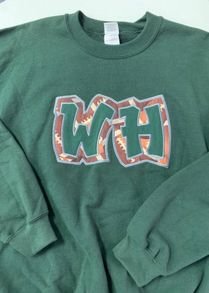WH Football Patch Crew Sweatshirt
