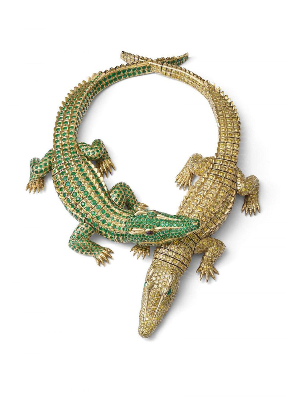 Cartier crocodile necklace commissioned by María Félix