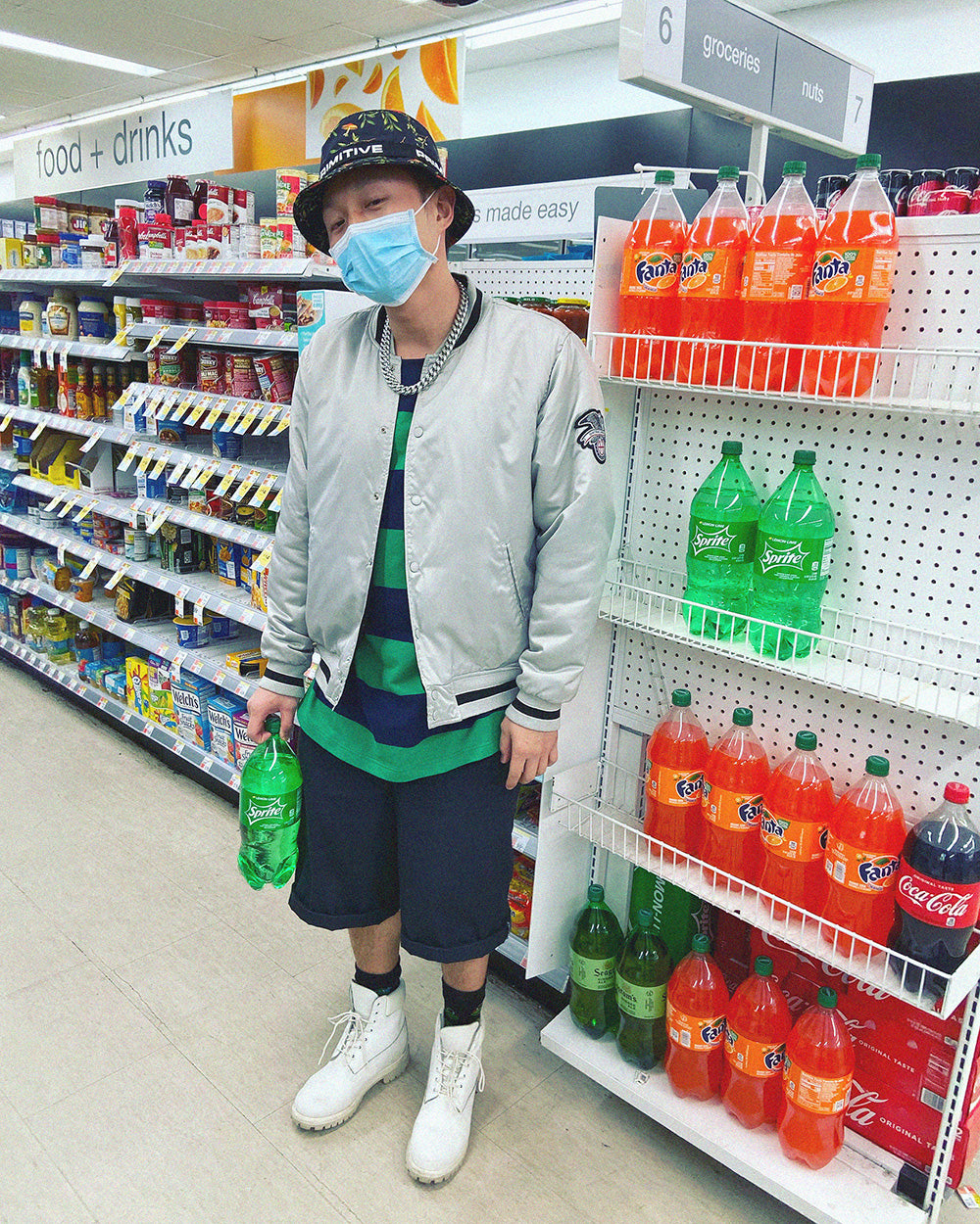 Photo of Matt in NY convenience store during Covid-19