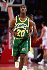 PFL: Basketball Jersey Draft. Round 1 Tenth Pick : Seattle Supersonics Road Green 92/93 B