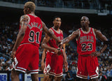 PFL: Basketball Jersey Draft. Round 1 Third Pick : Chicago Bulls Road Red 96/97 B