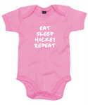 Baby Romper Hockey Eat Sleep Hockey Repeat