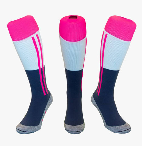 Hingly Socks - 2 Stripe - Roze/Wit