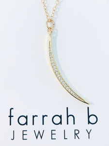 farrah b Crescent Charm with Crystals