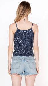 BOBI Los Angeles Tie Front Cami Top