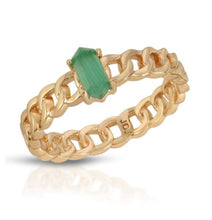 Load image into Gallery viewer, Joy Dravecky Chainlink Stone Ring